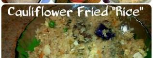 Cauliflower fried rice copy cat low carb