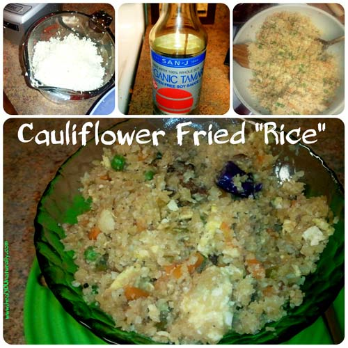 Cauliflower fried rice copy cat low carb