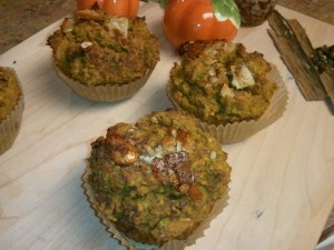 Pumpkin Apple Muffins- Grain, Gluten Free, No Sugar Added