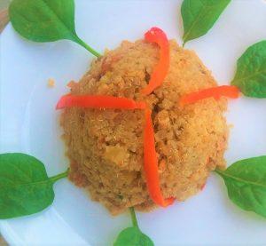 arroz con pollo on a plate