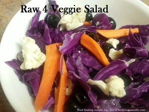 Easy Raw Vegetable Salad