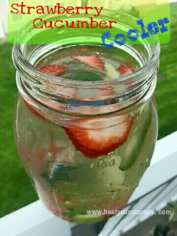 Flavored Water: Strawberry Cucumber Cooler + 10 Benefits of Strawberries