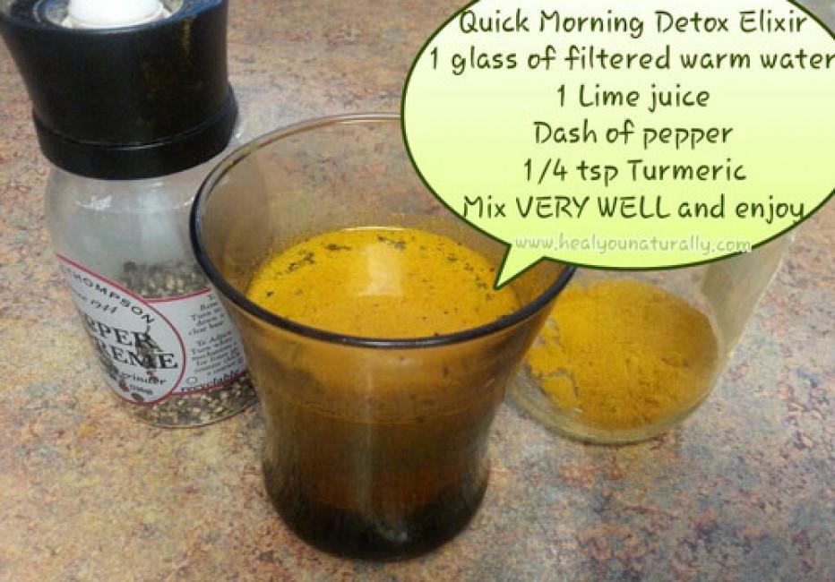Take Your Morning Lemon Water Detox DrinkTo The Next Level