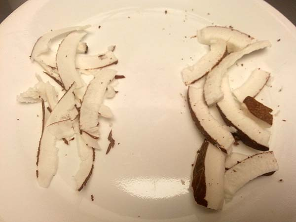 coconut chips on plate