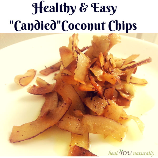 "Healthy and Easy ""Candied"" Coconut Chips"
