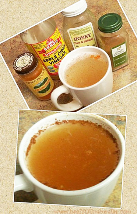 lemon water detox drink in a cup