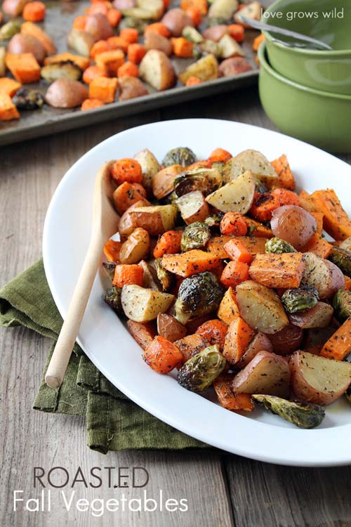 Roasted Fall Vegetables For a healthy dinner