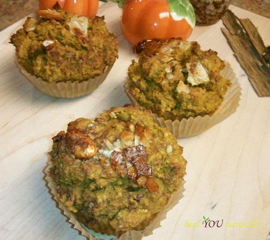 Pumpkin apple muffins gluten free grain free
