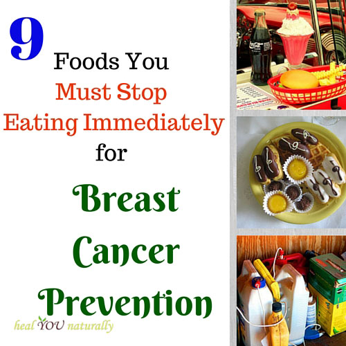 9 foods to avoid for breast cancer prevention