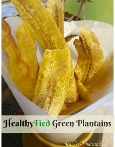 Healthy Green Plantains vegan paleo