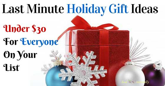 Last Minute Holiday Gift Ideas Under $30.00 | healYOUnaturally