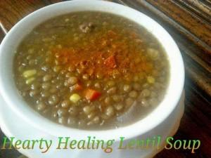 healing hearty lentil soup