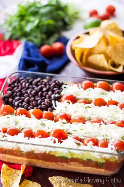 Light 7 layer dip memorial day appetizers