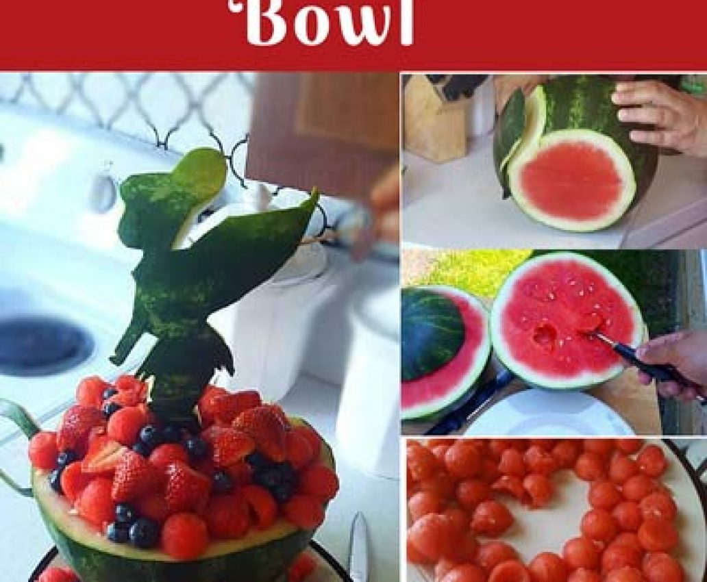 How to Carve a Watermelon Tinkerbell Fruit Bowl