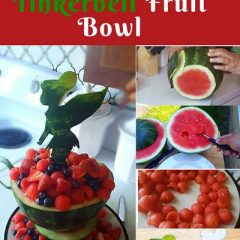 How to carve a tinkerbell watermelon fruit teacup