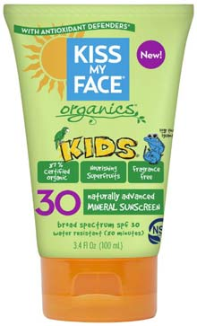 kiss my face organic sunscreens for babies green bottle