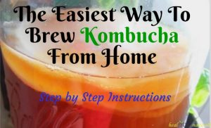 The Easiest Way To Brew Kombucha From Home (Step by Step Instructions)