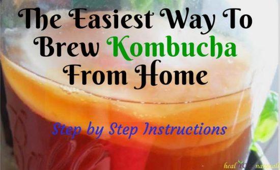easy how to make kombucha from home