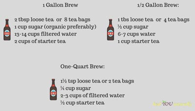How to make kombucha ratios
