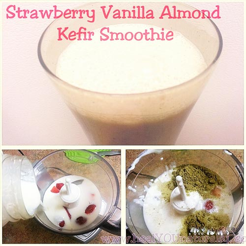 strawberry-almond-kefir-smoothie