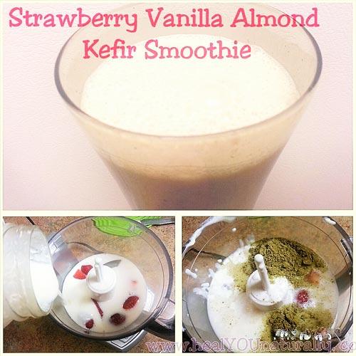 strawberry-almond-kefir-smoothie