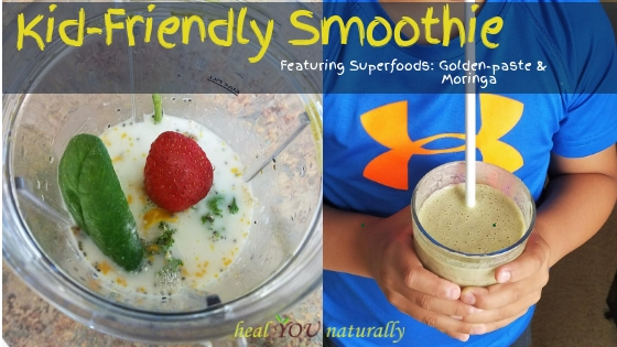 kid friendly smoothie spinach kale
