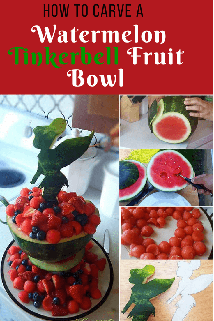 How to carve watermelon tinkerbell tea cup