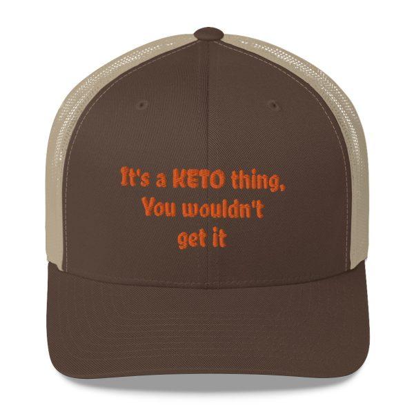 brown hat keto lifestyle