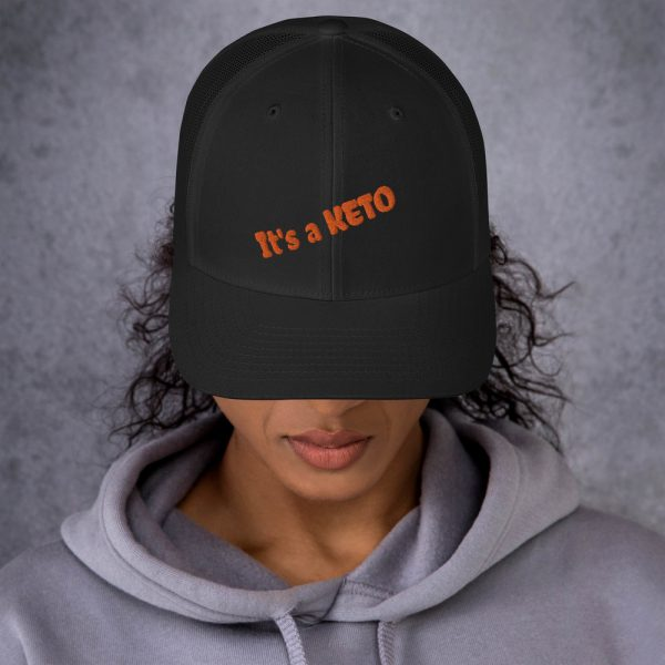 black black hat keto writing front