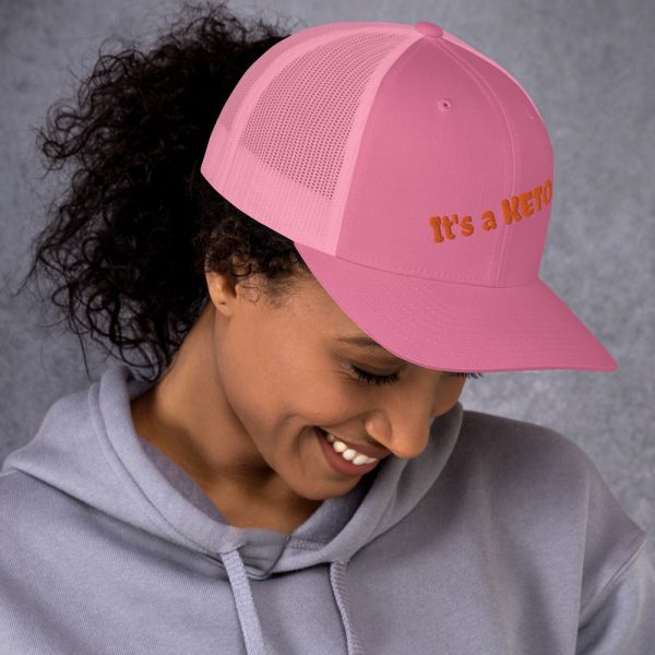 pink hat keto letters