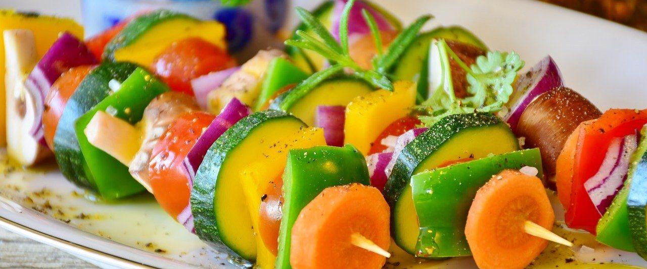 vegetarian in skewers
