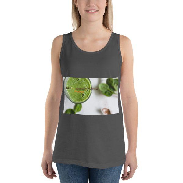 sleeveless olive shirt mockup front