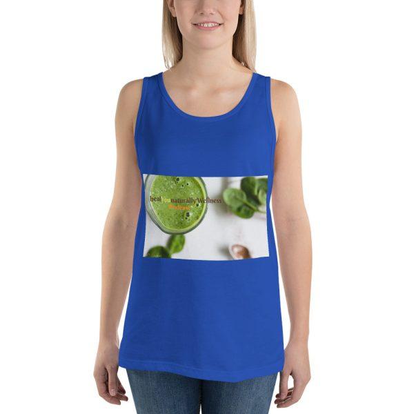 sleeveless blue shirt mockup front