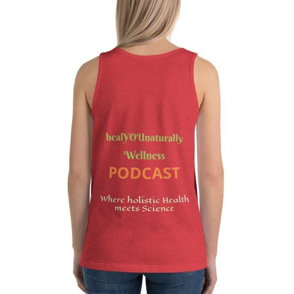 sleeveless red shirt mockup