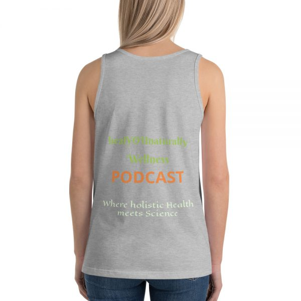 sleeveless gray shirt mockup back