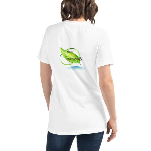 white T shirt with Logo mockup