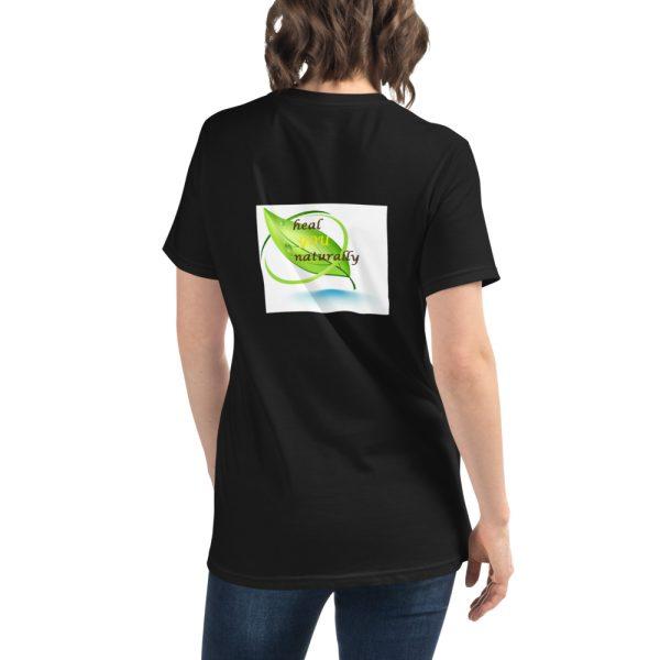 black T shirt with Logo mockup