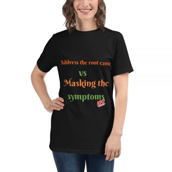 black T shirt with Logo mockup front