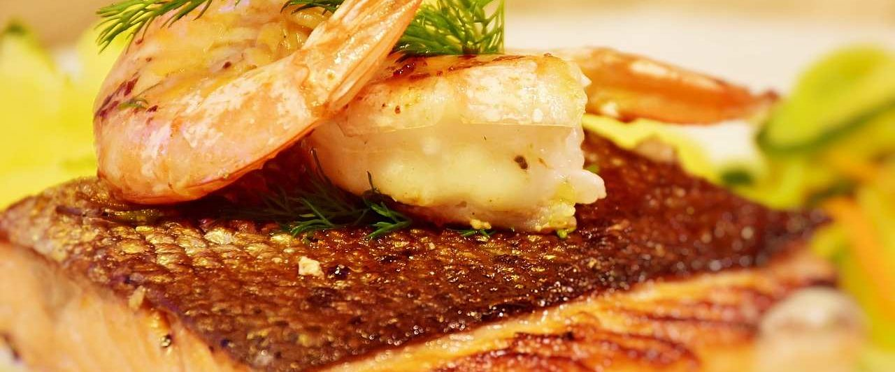 salmon and shrimp meal