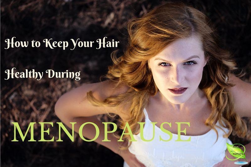 woman healthy hair menopause
