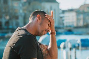 man with sinus congestion headache